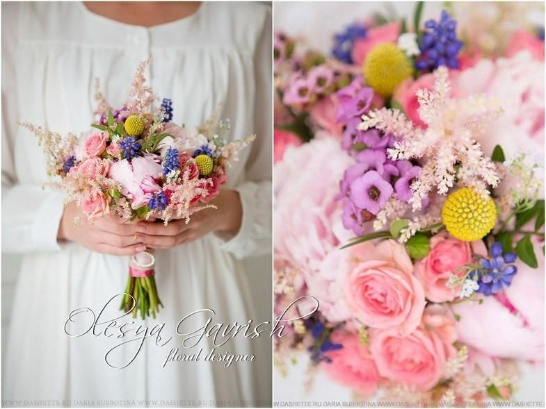 Цветов букет с краспедией интернет магазин цветов