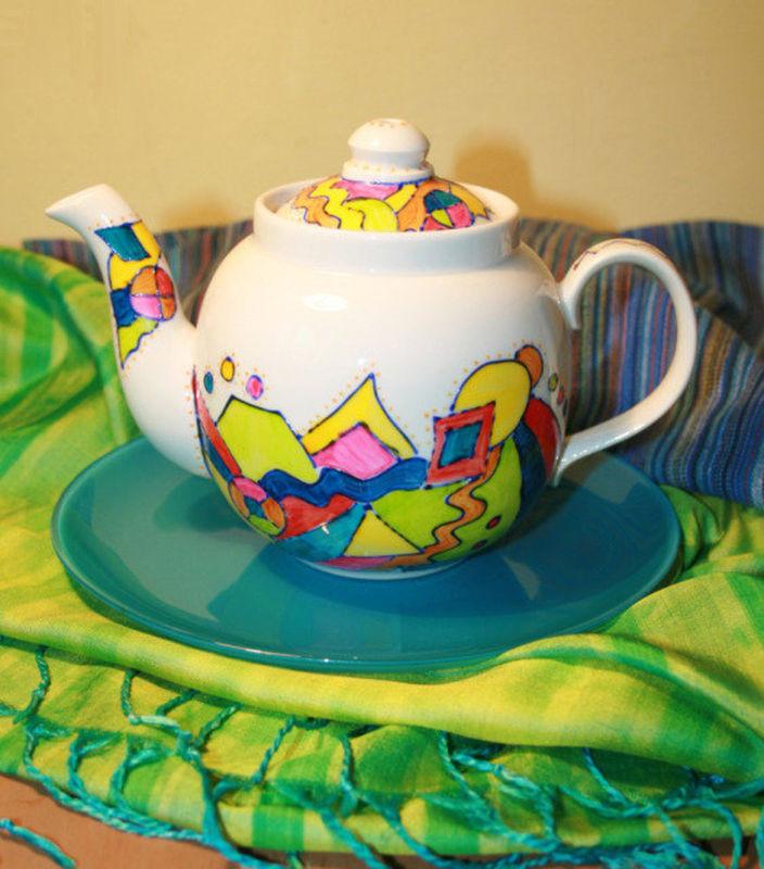 Как разукрасить чайник