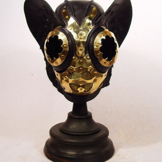 BJ SteamPunk Leather Mask