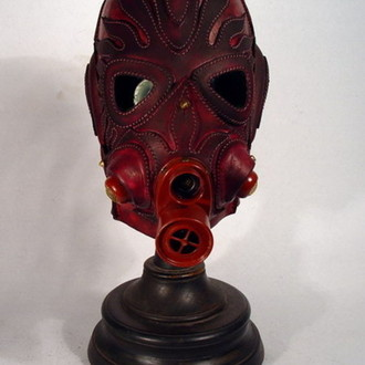 Dark Red Steampunk Gas Mask