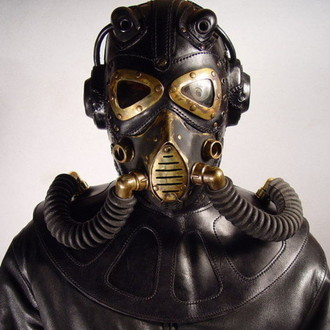 RP 9 Steampunk leather Gas Mask.