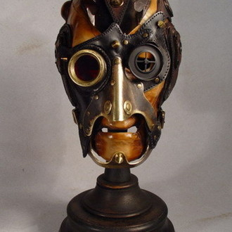 Steampunk Mohawk Art Leather mask.