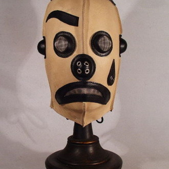 White Clown Steampunk Leather Mask. Белый Клоун