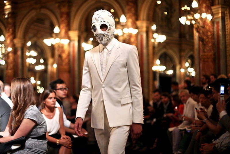 Givenchy/Bob Basset's masks. Givenchy Mens Spring Summer 2011