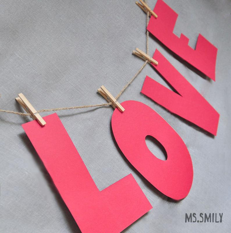 Love из картона своими руками 125