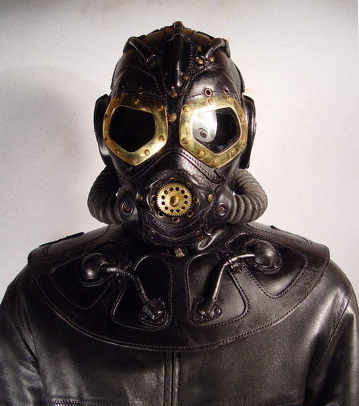 RP 8 Steampunk leather Gas Mask.